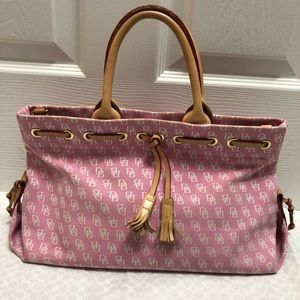 Dooney and Bourke Pink Canvas Purse